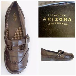 💕 Arizona Jeans chunky brown Mary Janes buckle